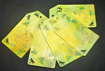 Tags - cardstock/paper/color - handmade / Tags - cardstock/paper/color - handmade