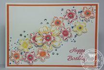 Flower Shop & Petite Petals - Stampin' Up! / Inspiratie ideeën met de stempelsets Petite Petals & Flower Shop