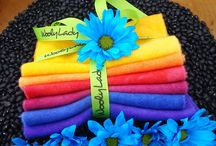 WoolyLady Hand Dyed Wool Six Packs / Hand dyed wool for Applique and rug hooking by WoolyLady