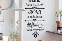 vinilos decorativos frases pared