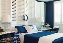 sea blue beedroom