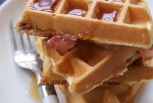 Waffles and breakfast