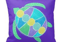 Purple Turtle / Purple and blue sea turtle