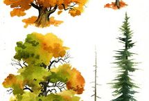Trees - painting & drawing