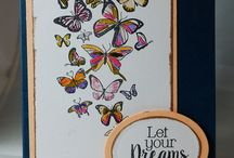 Joy Clair- Butterfly kisses / Projects created using Joy Clair's Butterfly kisses Clear Stamp set