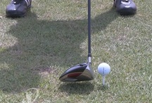 Driving the Ball / Driving the golf ball and various driver stances, swings and other images.