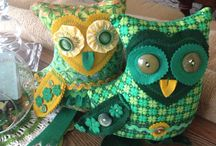 Owls by Me / I am a textile artist. I enjoy creating  Handmade things for home, hands and heart! I especially love owls. If you would like to order an owl contact me at pamswan@hotmail.com / by Pam Swan