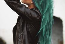Green & Turquoise Hair