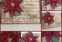 christmas cards 7 pointsettias