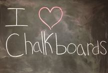 I love chalkboards..... / Each one tells its own story....