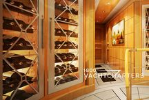 Yacht Wine Cabinets / Private luxury yacht charter wine cabinets - Wine chillers on yachts - Wine cellars on superyachts - Sommelier service on luxury yacht charter - wine tastings - vineyard tours - groups and seminars - Your own private yacht - Cocktails are served