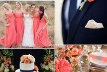 Pink & Navy Blue Wedding