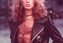 =VH= DLR / David Lee Roth.  Not a crush,  but I lusted after him. Shhhh.