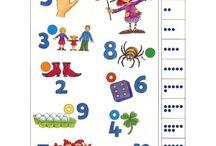 Cijfers en dobbelsteensymbolen