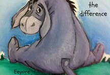 Eeyore / I use to care for a little guy that had Eeyore eyes.  And just fell in love with this character. I have been told many times that I have Eeyore features. / by Donna Cofer