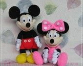 Mouse and Mickey crochet dolls