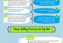 Foam rolling and stretches