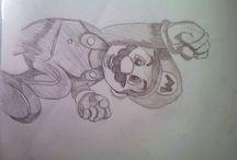 Mes dessins / Je vais reproduire un peu a ma façons des dessin de pinterest et les poster le plus régulièrement . On verras ma progressions dans le dessin !