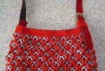 Rød hjerte taske med clips