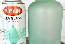 Sea Glass spray paint & ideas