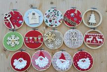 Christmas / handmade embroidery hoop ornaments