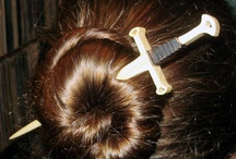 """stcks; brooches and comes for my HAIR!!! =) / by Jeanel """"iolii"""" Walker"""