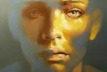 Oil painting face
