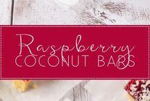 Coconut raspberry biscuits