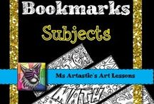 "Bookmarks - TPT Ms Artastic / All bookmarks all the time! Some free, some you pay for! Some seasonal, some grade specific! Make literacy or your library fun, or even give your students a ""when-you're-done"" activity with Bookmarks!"