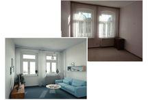 """zu renovierende Wohnräume / """"Homestaging - ein kleiner Blick in die Zukunft.""""  Damit man sich schon vor der Renovierung in sein zukünftiges oder schon bestehendes Zuhause (neu) verlieben kann, bieten wir das virtuelle Renovieren an."""