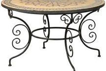 mesas, sillas con hierros artistico