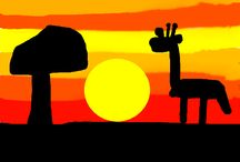 African Skies / Year 1 Sunsets in Silhouette
