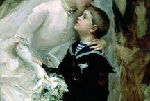 19th century wedding scene