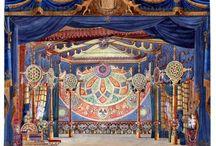 Auguste Caron / Bühnenbildentwürfe von Auguste Caron