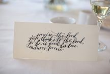 Calligraphy/invitations / by Holly McDonald