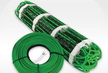 Snow Melting Electric Heating Cable & Mats / Snow and Ice melting with heated mats (surface or embedded in concrete)