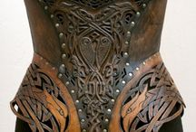 Leather armour, corsets, quivers