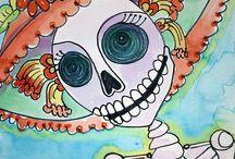 Dia de Los Muertos art / by Dyan Lucas Lucas