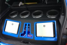 "Jl audio renault clio sport rs 200 / renault clio sport rs 200 with a jl audio hd1200/1, hd 600/4, four 8"" 8w7 subs all running of a cleansweep  all in a custom installe"