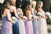 Ombre Bridesmaid Dresses / Wedding Fashion