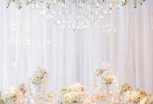 White Wedding Flowers / Floral decor. Wedding ideas, white bouquets, white wedding flowers,