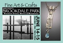 2014 Spring Fine Art & Crafts at Brookdale Park / www.rosesquared.com Brookdale Park, located a half a mile from the Garden State Parkway, a few minutes from affluent, arty Montclair, is a lovely setting for a quality, outdoor fine art and craft show. The event, presently in its 26th year, is co-sponsored by the Essex County Department of Parks, Recreation and Cultural Affairs and Rose Squared Productions, Inc. The park is very accessible to the public and exhibitors.  The free to the public event runs from 10am-5pm.