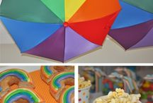 Rainbow Theme Birthday Party for kids
