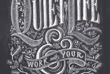 Handdrawn typography