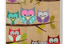 Owls / cloth, decoration, stuff