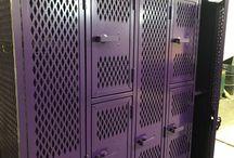 Albany High School Ph2 - Albany, MN #DeBourgh #Lockers / #AngleIron #PurpleFig #SentryOneLatch #DiamondPerforation #5KnuckleHinge #ThatColorThough #DeBourgh #Lockers