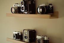 Cameras shelves / Shelves for cameras