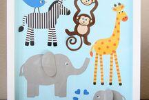 καδρακια με ζωακια κολαζ- animal collage pictures