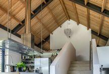 Bloem huis dak