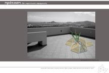 The triangle project #outofsight / A research using the triangle as a module to cretate everyday terrace and exterior equipment. Modules made of multiple materials. Example Renders. #module #research #design #architecture #triangle #exterior #terrace